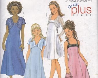 Butterick 4385 Girls/Girls Plus Size Jacket and A-Line Dress Sz 7-10 CUT