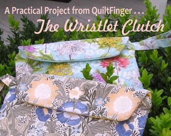 Zippered Wristlet Clutch Hand Bag PDF Pattern Download
