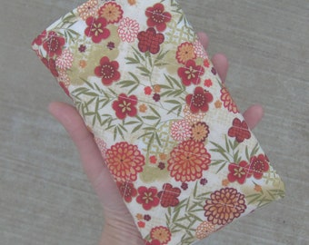 Quilted Cherry Blossom Tablet Case 4.5 x 7.5 Inches
