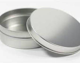 10 4oz shallow metal tins