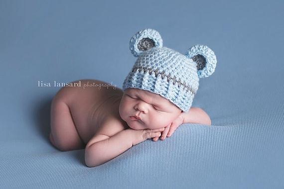 c61e11305 Baby Bear Hat, Boy Hat, Bear outfit, Bear costume, Teddy Bear, Newborn,  Grey Bear hat, Knit bear, Photo prop, Hospital Hat, infant costume
