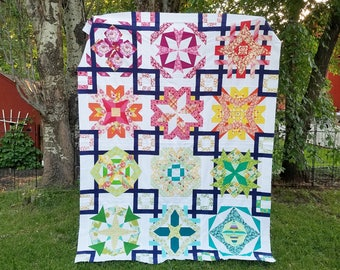 Block of the Month Quilt Pattern - Zodiac BOM #236 - Paper Piecing Pattern - pdf