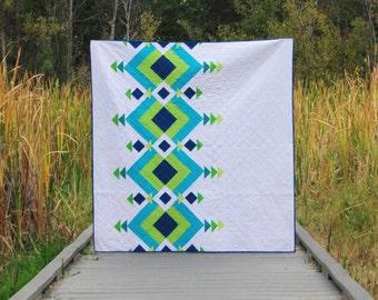 Modern Quilt Pattern - River Pond #102 - Quilt Pattern - PDF