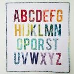 3 inch My First Alphabet #210, Alphabet Quilt Pattern, Paper Piecing Quilt Pattern PDF, Easy Quilt Pattern, Modern Quilt Pattern