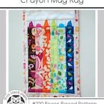 Crayon Mug Rug #220, Teacher Gift Mug Rug Paper Piecing Quilt Pattern PDF, Full Instructions and paper piecing Tutorial, Scrap Friendly