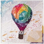 Rise Above Geometric #252, 12 inch Hot Air Balloon Pattern, Modern Paper Piecing Quilt Pattern PDF, Mix-&-Match w/ 8 add-on balloon patterns