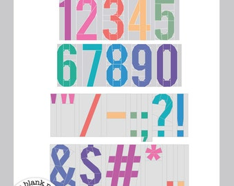 6 inch My First Alphabet: Numbers & Punctuations #213 Alphabet Paper Piecing Quilt Pattern PDF