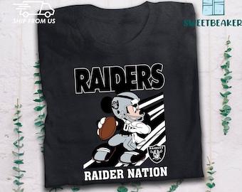 Las Vegas Raiders Football Team T-Shirt Mickey Mouse T-Shirt Raider nation T-Shirt