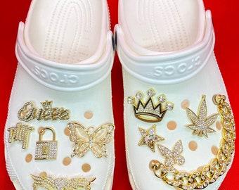 Luxury Charm Metal Charm Clog Charm Swans Charm Butterfly Charm Lock Charm Lipstick Charm PVC Shoe Accessories Shoe Decoration For Charm