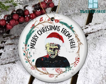 My First Christmas Ornament Hellraiser Pinhead Merry Christmas From Hell Ornament