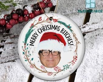 My Frist Christmas Ornament Danny DeVito Merry Christmas Bitches Ornament
