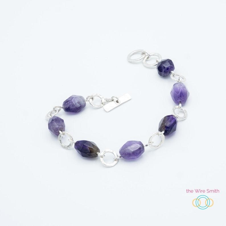 Amethyst Statement jewelry Layering bracelet