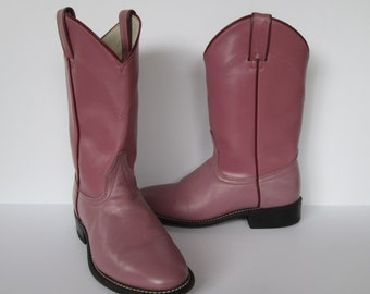 black and pink cowboy boots