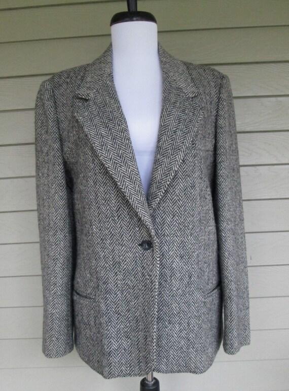 Vtg Brooks Woolen Co. Inc. Womens Brown Tweed Wool