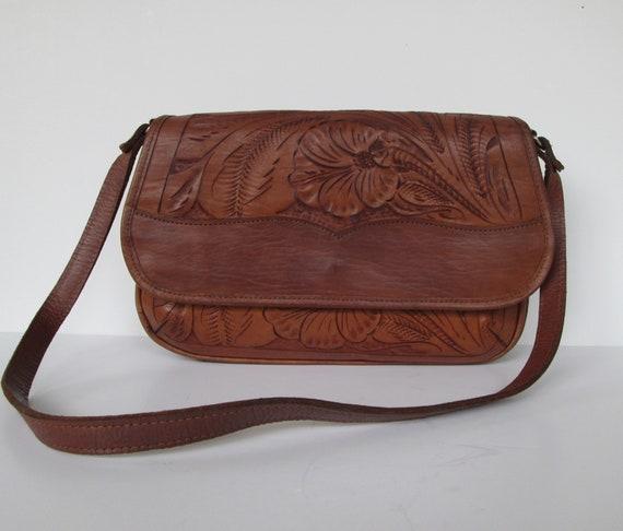 Lovely Tooled Leather Shoulder Bag