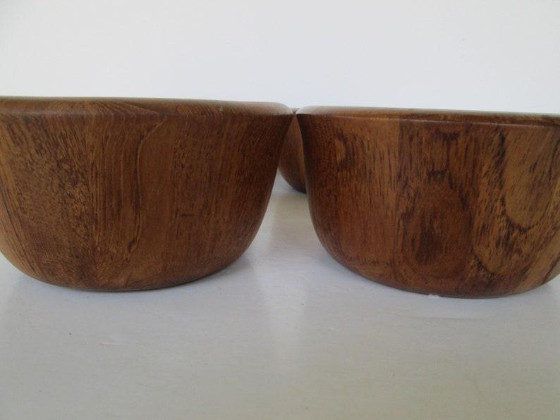 Ensemble de saladiers en bois de thé Dansk de 4