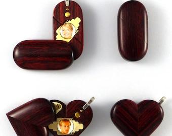 Illusionist Locket Thin Magic Heart Pendant by Illusion Lockets
