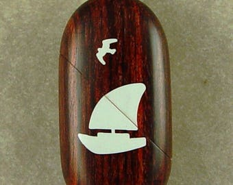 Illusionist Locket #4320 Thin Sailboat That Transforms into a Dolphin Pendant by Illusion Lockets