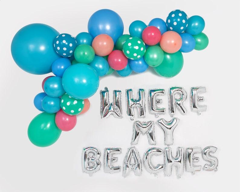 Unicorn Beach Princess Party Decor Fuchsia Raspberry Pink  24 Giant Round Latex Balloons Summer Mermaid