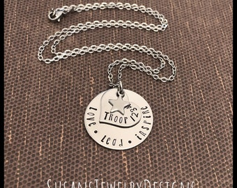 I/'m A JUNIOR Girl Scout Troop Pack Bridging Custom Antique Silver Flat Bezel Pendant Charm Necklace Keychain ~ Unique Gift for CHRISTmas!