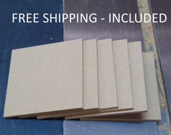 "Mdf Wood Squares - Wood Blocks - Craft Blocks - 4"" Squares 1/4"" Thick Pieces"