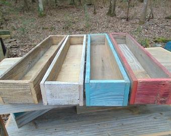 Succulent Planter, Succulent Planter Box, Reclaimed Wood, Home Decor, Wood Center Piece