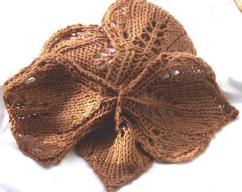 Knit leaf pattern | Etsy