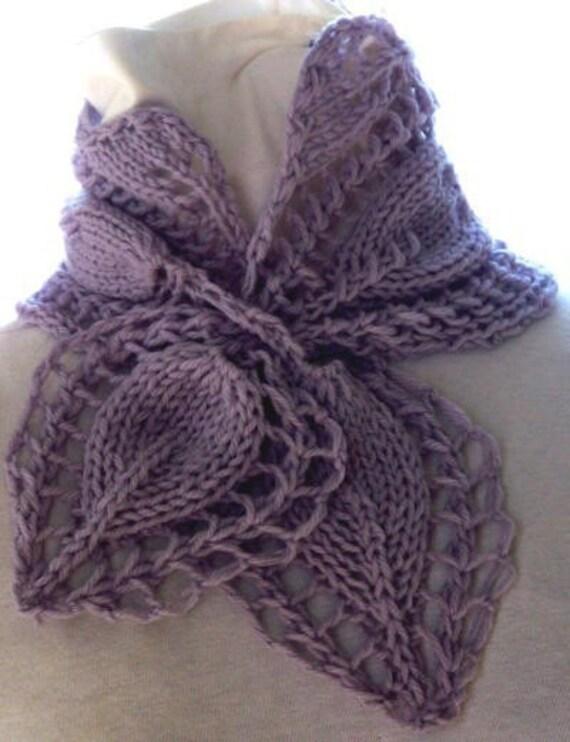 Scarf Knitting Pattern Victorian Rose
