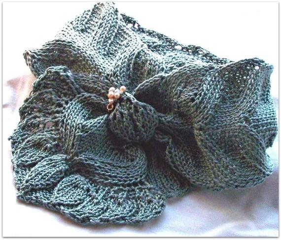 Scarf Knitting Pattern Spring Flora Etsy