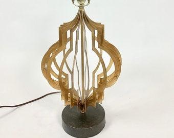 Mid Century Modern Gilt Metal Lamp