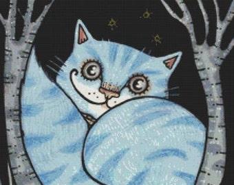 Cat Cross Stitch Kit, Alice In Wonderland,Which Way, Anita Inverarity, Cross Stitch Kit, Cheshire Cat, , Alice in Wonderland Cross-Stitch