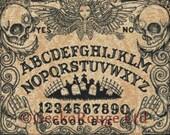 Modern Cross Stitch Kit By Shayne of the Dead 39 Ouija Board 39 - Needlecraft kit