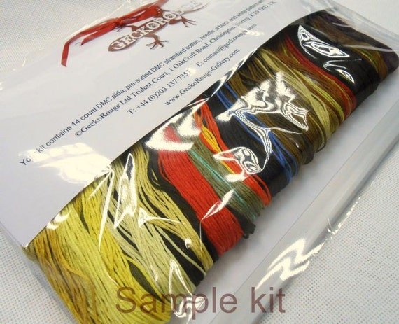 Cross Stitch Kit /'Butterfly Meadow/',Jo Grundy Counted Needlecraft Kit with DMC materials Woodland Cross Stitch