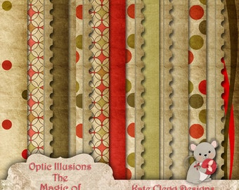 The Magic of Christmas - Digital Scrapbooking Paper Pack  - 13 Papers 12 x 12 -2.50