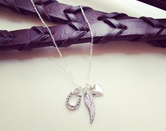Best Friend, New Mom, Graduation, Bride, A Little Luck, Love, A Wing And A Prayer - Sterling Silver