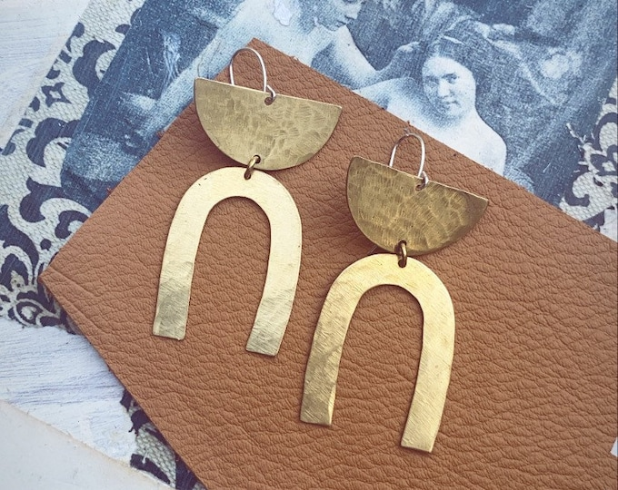 S A D I E <> Brass Geometric Earrings