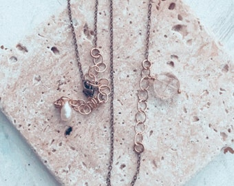 Rutilated Quartz Asymmetrical Necklace