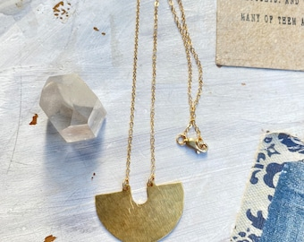 S T E L L A <> Brass Necklace // Modern Necklace // Geometric Necklace // Minimalist Necklace // Brass Jewelry // Leah Pastrana
