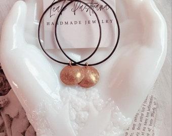 Brass Earrings, Statement Earrings, Modern Earrings, Mixed Metal Earrings, Contemporary, Seattle, Leah Pastrana