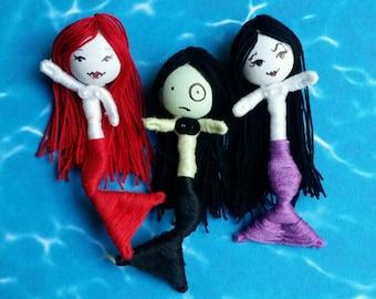 Halloween Little Mermaid Babies art dolls a trio of merfriends