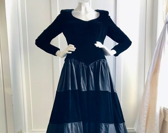 Patricia Rhodes Couture Black Velvet Gown for Saks