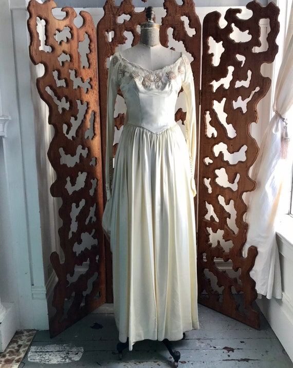 Vintage 1940/50s Wedding Dress