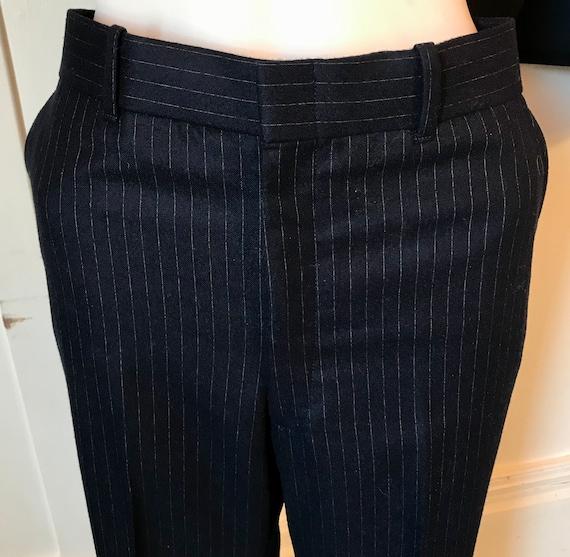 Vintage JC PENNEY Men's Navy Pinstripe Wool 3-pc … - image 6