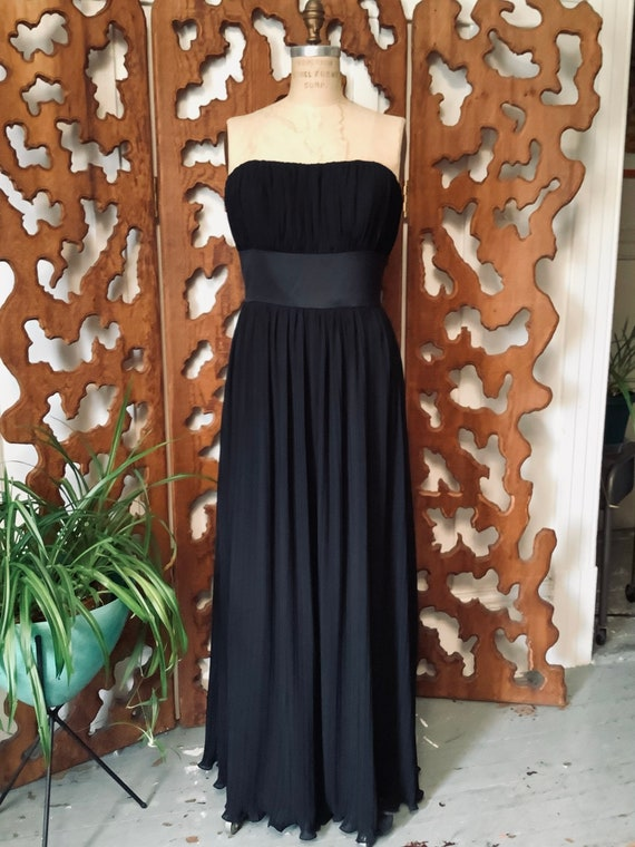 Dessy Collection Black Strapless Evening Gown - sz