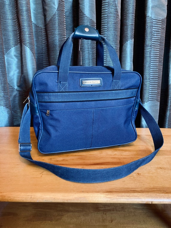 Vintage 1970s/80s Blue Canvas American Tourister O