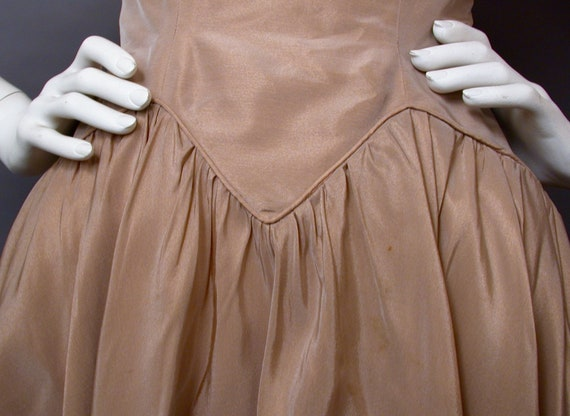 Vintage 1960s Light Brown Party/Prom Dress - image 8