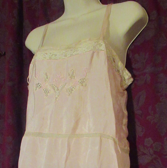 Silk Step In Chemise Underwear Vintage 20's