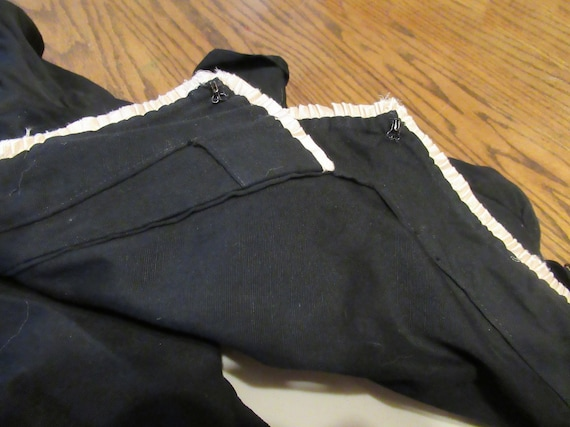 Black Cotton Edwardian Dress Antique Work Dress R… - image 7