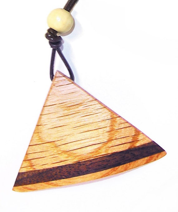 Wooden Wedge Necklace 15