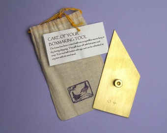 Brass Nevada modified triangle for bookbinding and boxmaking RIGHT HANDED
